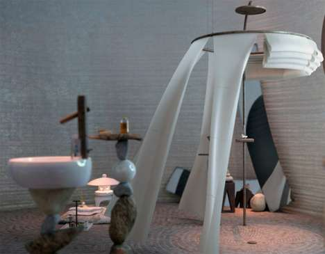 Serene Meditation Bathrooms - The Roca Pearl by Rustam Isanchurin Will Give You Peace of Mind