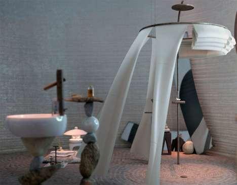 Serene Meditation Bathrooms