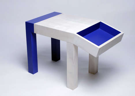 5-Year-Old Designers - The Dog Table by Quentin de Coster is Made for Kids by Kids