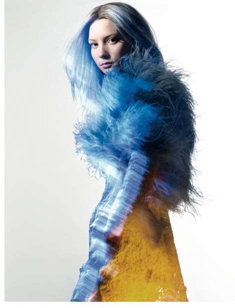Technicolor Wonderland Photography - Mia Wasikowska for Dazed and Confused Magazine