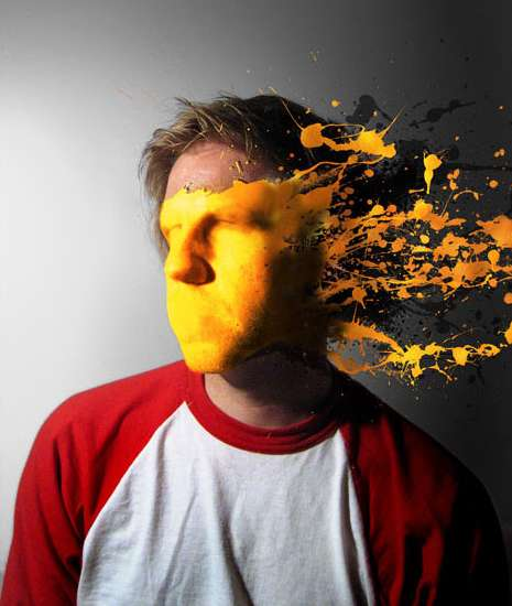 Paint Splattered Portraits - Justin van Genderen Splashes Color Onto Regular Photos