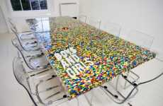 Toy Brick Tables - The LEGO Boardroom Table Brings Fun into the Office