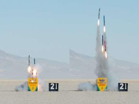 Giant Crayon Rockets