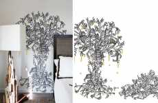 Morbidly Romantic Wall Decals - Hannah Stouffer Combines Love and Death in 'El Arbol de Amor'