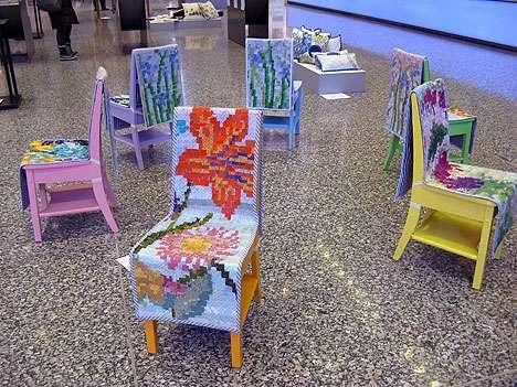 Elaborately Patterned Furniture