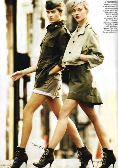 Vogue US March 2010 Shows Refined Military Looks for Spring