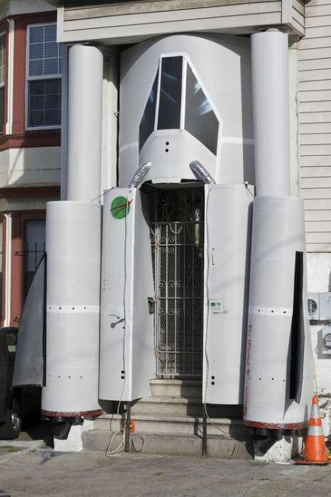 Retro Spacecraft Entrances