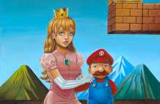 Classic Game Portraits - Deseo's Mario and the Princess in the 'I Am 8 Bit' Show