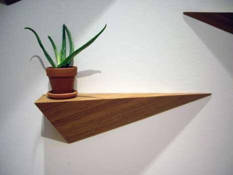 Hanging Hypotenuse Shelves