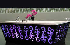 Backlit Bathtubs - The THG Arabesque Tub Will Light Up Your Washroom