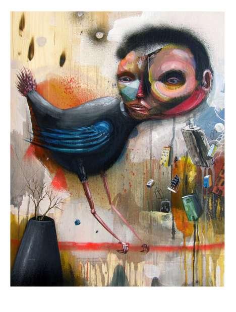 Trippy Avian Art