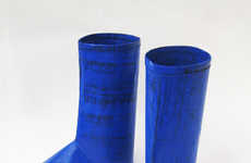 Recycled Rain Boots - Boots by 'Waste for Life' are Made From Recycled Plastic Bags