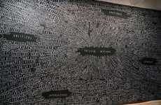 Fear-Facing Chalkboards - The Brian Rea 'Murals' is a Catalog of One Man's Worries
