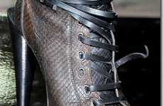 Strap-Happy Snakeskin Stilettos - Hot Above-the-Ankle Heels for Roberto Cavalli AW 2010