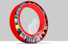 27 Bodacious Bookcases - From Convertible Bookcases to Circular Bookshelves