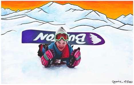 Snowboarder Street Art