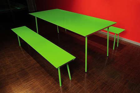 Neon Picnic Tables