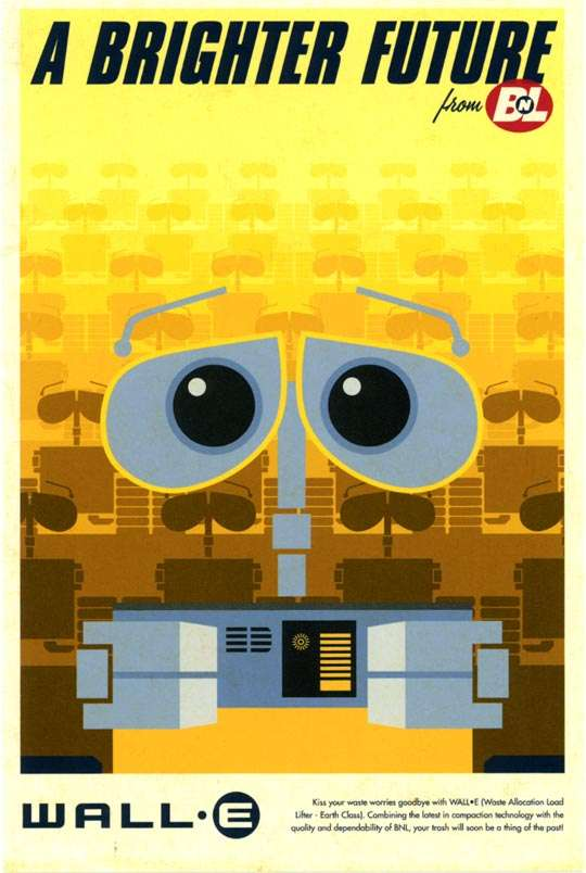 60s-Styled Pixar Posters