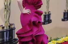 Wavy Magenta Frocks - For the 2010 Oscars Vera Farmiga Surfs the Red Carpet in Style