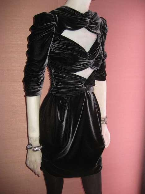 Criss-Crossed Velvet Dresses