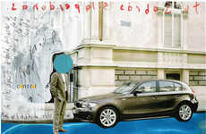 Avant-Garde Auto Art - Leonardo Tezcucano's Painted BMW Ads Are Exciting