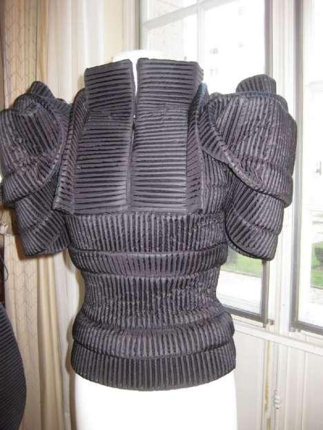 Ribbed Geometric Fashion