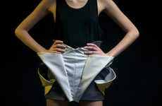 Astrological Origami Skirts - 'External & Internal Photoshoot' by Anastasia Timoshkina is for Aries