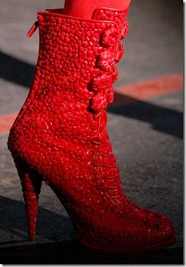 Bumpy Red Booties
