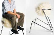 Pom Pom Seating - The Ostrich Barstool Will Take You for a Comfortable Ride