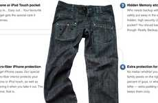 Gadget Organizer Pants - WTF Jeans Will Make Carrying Tech Devices Easier