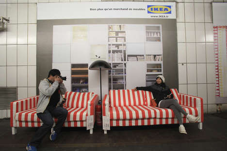 Subway Living Rooms - Paris Metro gets a Makeover, Courtesy of IKEA