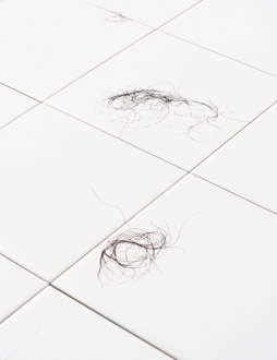 Gross Bathroom Decorating With Fallen Hair Tile Designs