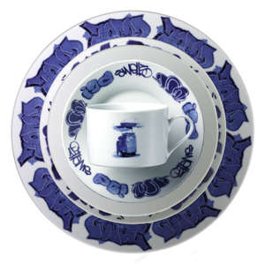 Graffiti Dinnerware - New York Delft Tableware
