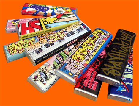 Graffiti Chocolate Bars - NYC Artists Create Unique Wrappers for Charity