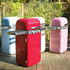 Retro Color Block Barbeques - The Memphis Two Burner BBQ Adds Some Color to Your Patio