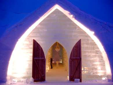 Ice Hotel Glace Quebec Canada