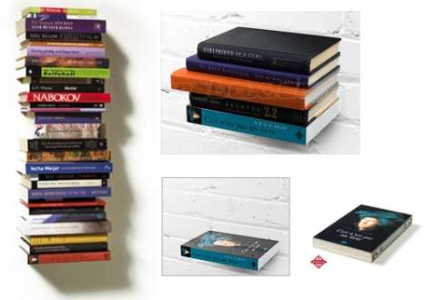 Fake Book as a Shelf - Your Books Floating on the Wall