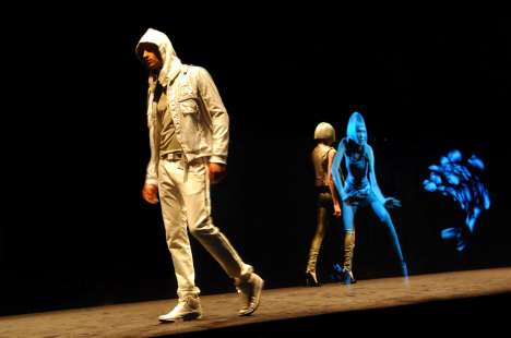 Runway Holograms - The Deisel Fashion Show Brings Grungewear to Otherworldy Dimensions -