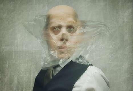 Freaky Plastic Wrap Portraits