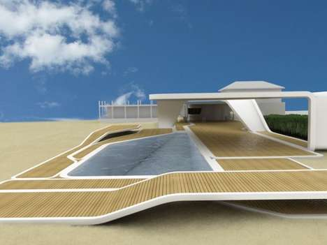 Sleek Modular Beach Homes - The Progettospore F Club Brings Style to the Surf