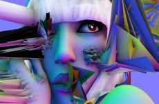 Geometric Gaga Art - David OReilly Re-Imagines Stand Out Pop Star Lady Gaga
