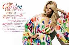 Floral Eco-Fashions - The H & M Garden Collection Redeems Its Environmentally-Friendly Status