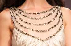 Simple Bejeweled Necklines