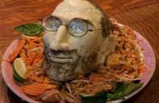 CEO Food Sculptures - The Steve Jobs Cheese Head Gives New Meaning to the Term 'Big Cheese'