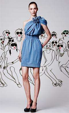Gathered Denim Dresses