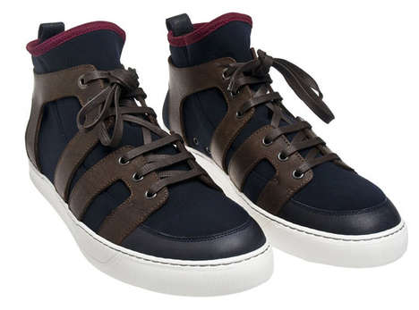 Lanvin Cut Out Hi-Top SS 10 Sneakers Walk in Their Own Path