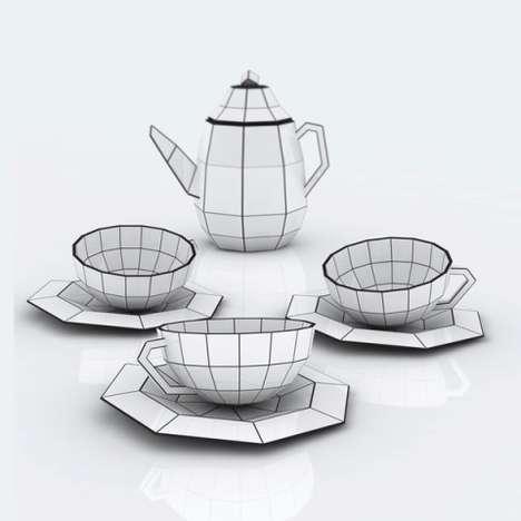 Spider-Inspired Tea Sets