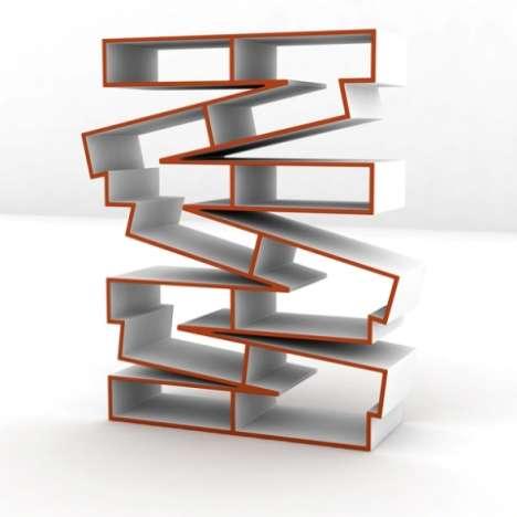 Crinkled Plywood Shelves