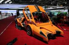 Ghastly Supercars - Sbarro Autobau Six-Speed Scream Machine is Like a Batmobile on Acid