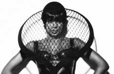 Oversized Face Nets - Naomi Campbell Celebrates the 25th Anniversary of Vogue Russia